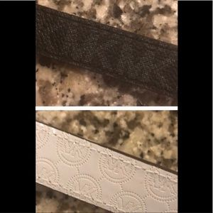 Michael Kor skinny reversible belt white/black, XL